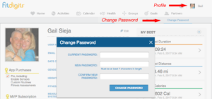 Fitdigits Change Password