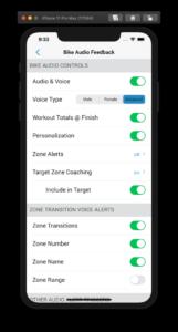 Audio Coaching Settings