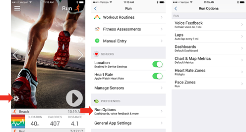 Fitdigits Activity Preferences - iOS