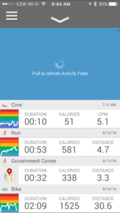 Refresh activity feed