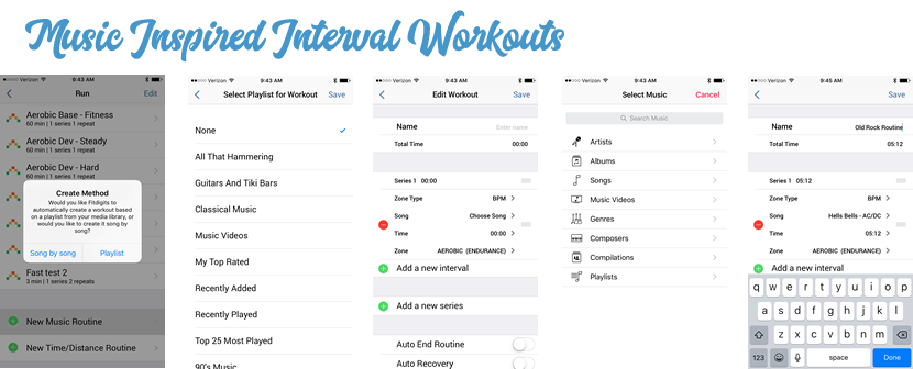 Music Structured Interval Workouts
