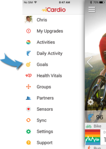 Set Goals for Fitdigits Apps