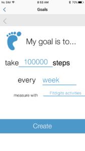 Set a steps goal