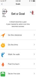 Set different goals