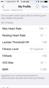 My Fitness in Profile
