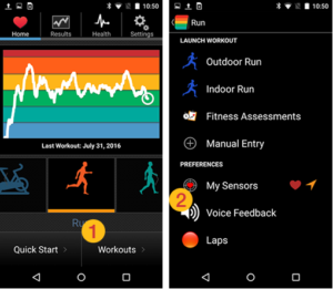 Turn on voice in Fitdigits Android apps