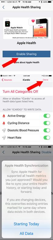 Linking Fitdigits & Apple Health