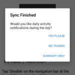 Steps notifications