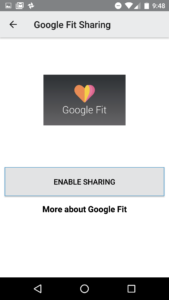 Google Fit Linking