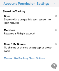 LiveTracking Share Permissions