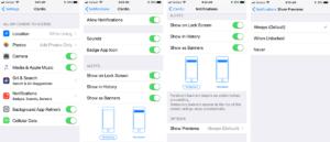 Fitdigits iOS Notification Options