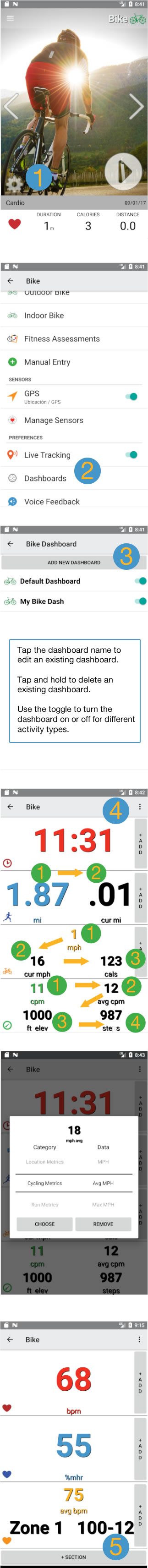 Customize Dashboards on Android