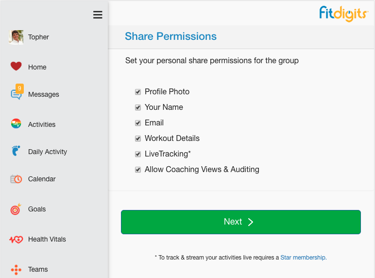 Your Personal Group Share Permissions