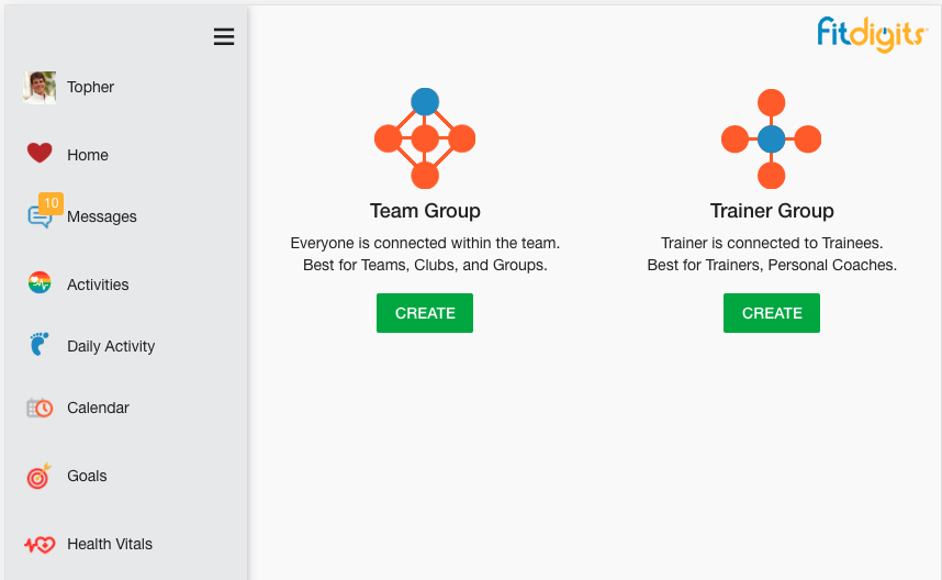 Team Group or Trainer Group?