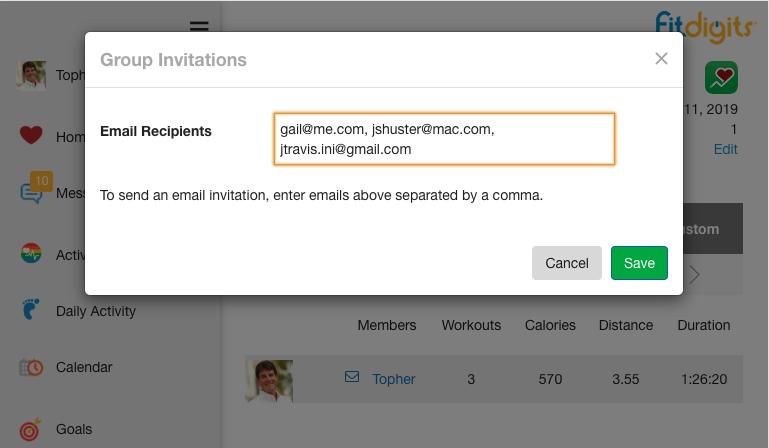 Send invite emails