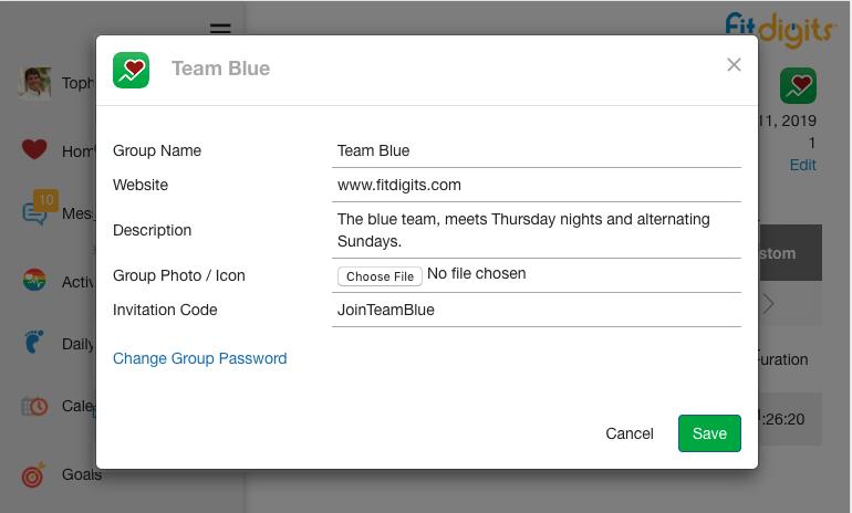 Edit Team info / add Invitation Code