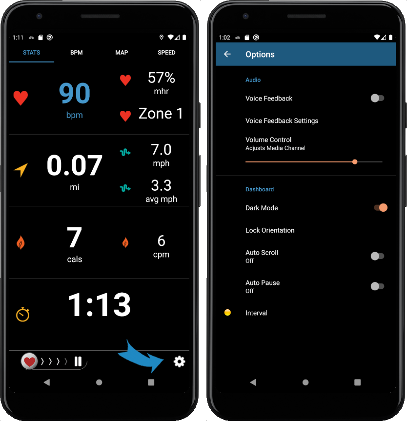 Fitdigits In Workout Audio Options